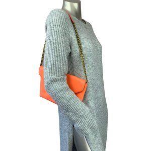 J CREW | Flourescant Leather Clutch Shoulder Bag